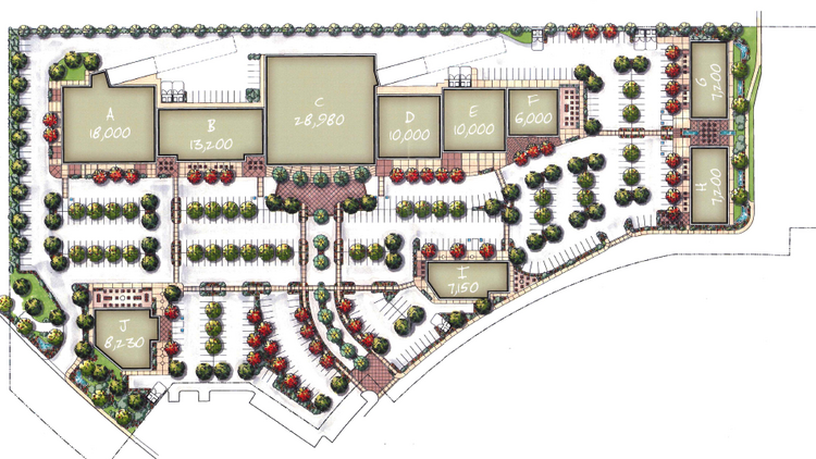 Natomas Fountains would be almost 116,000 square feet on 12.54 acres, with a strip of up to 86,000 square feet and four individual buildings.