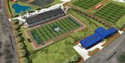 Houston Baptist University football stadium rendering