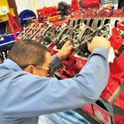 Holt Cat technicians work on engines at its  W.W. White Road headquarters in San Antonio.