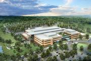A birds-eye view of the planned VA Health Care Center in Kernersville, a 280,000-square foot outpatient health care facility expected to open in fall 2015.