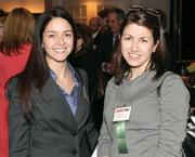 Danica Popovich, left, of Bowman Consulting and Nicole Norkin of Comcast Business Class.