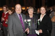 Carlow University's Andrew Wilson, Mary Hines, center, and Amy Neil.