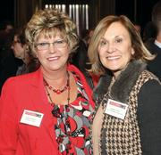 LaRoche College's Bobbi LaPlace, left, and First Commonwealth Bank's Jeanine Fallon.