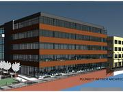 A rendering of Bader Rutter's new office