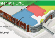 The clinic is taking space on the fourth floor of HCMC's new Ambulatory Outpatient Specialty Center under construction next to HCMC in downtown Minneapolis.