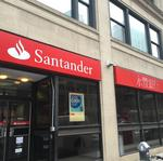 Santander's loan levels drop off as local rivals grow