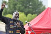 """The Rev. Kojo Nantambu, Charlotte NAACP president, said Monday of the state's political leaders, """"They're taking us back 150 years."""""""