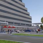 Office building's ground floor converting to retail, Starbucks among new tenants