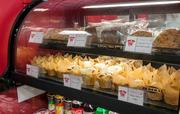 The bakery section includes muffins, cookies and other ready-to-eat fare.