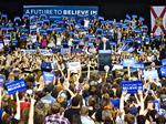 'Feel the Bern' crowd packs fairgrounds to hear Sanders' economic message