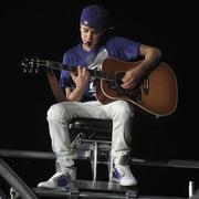 Justin Bieber in concert in 2011.