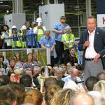 Kasich touts job growth at Dayton-area rally