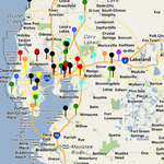 Wrong-way driver incidents in Tampa Bay area (interactive map)