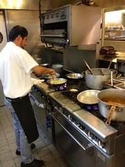 Behind the scenes in the kitchen at Jackson's