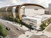 The Milwaukee Bucks released renderings of the team's planned new arena in downtown Milwaukee.