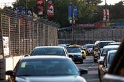 Race cars will make their way around this Russell Street bend as part of the 2-mile Grand Prix of Baltimore course.