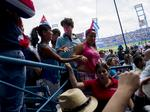 Scenes from the Tampa Bay Rays' exhibition game in Havana