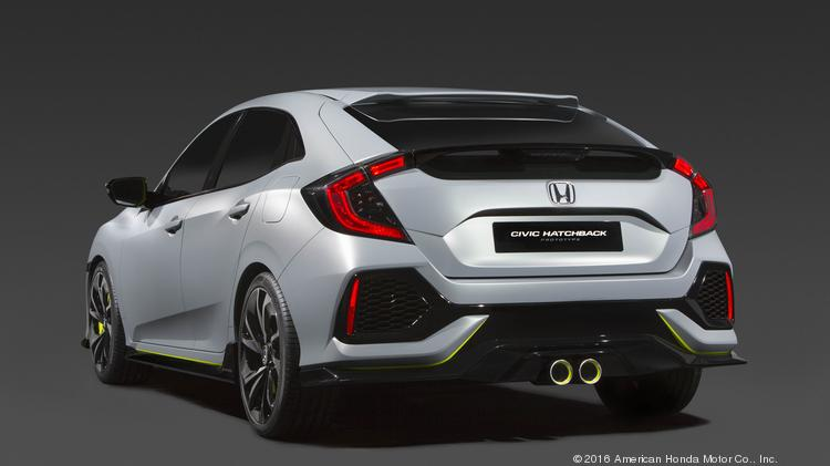 The 2017 Honda Civic Hatchback Prototype Made Its Debut In New York City