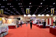 The exhibitor hall, about 10 minutes before the doors open on Saturday, March 16. So peaceful.