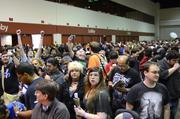 This is the scene outside the exhibitor hall. Not so peaceful.