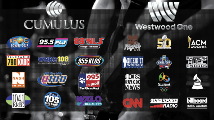 Cumulus Reaches 245 Million People Through Its Stations And Westwood One
