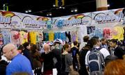 Remember how empty the WeLoveFine.com booth was? Not now.