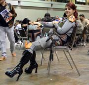 Torry Michalski of Sanford takes in her third MegaCon as a female Boba Fett.