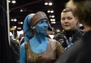 Dakster Sullivan of Orlando as Jedi knight Aayla Secura. Dakster is a member of the Rebel Legion costume club.