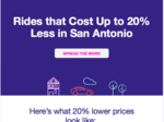 Ridesharing competitor in SA drops prices by 20 percent this week