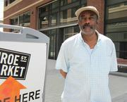 Cedric Baker will move his studio to Monroe Street Market next month.