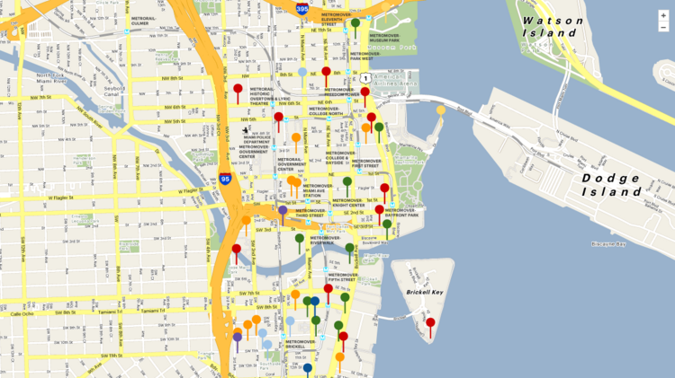 Interactive Map Of Florida.Crane Watch Miami Brickell South Florida Business Journal