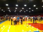Several hundred people attended the event at the U.S. Cellular Arena.