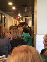 Long lines for <strong>Gioia</strong>'s Deli's first day downtown