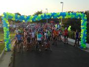 Cyclists prepare to depart on Heartspring's PedalFest ride.