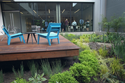 ArtHouse, a 130-bed student residence on the North Park Blocks, features a rain garden in the center.