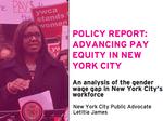 Minority women bear brunt of N.Y.C.'s gender-wage gap
