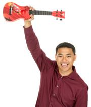 2013 PSBJ 40 under 40 honoree Heinrich Montana, CEO, of 110 Consulting. Montana loves to play music with his kids.