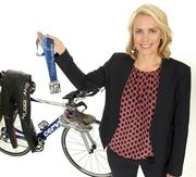 2013 PSBJ 40 under 40 honoree Karissa Marker, Partner, KPMG LLP.  Marker is an avid triathlete in her off hours.