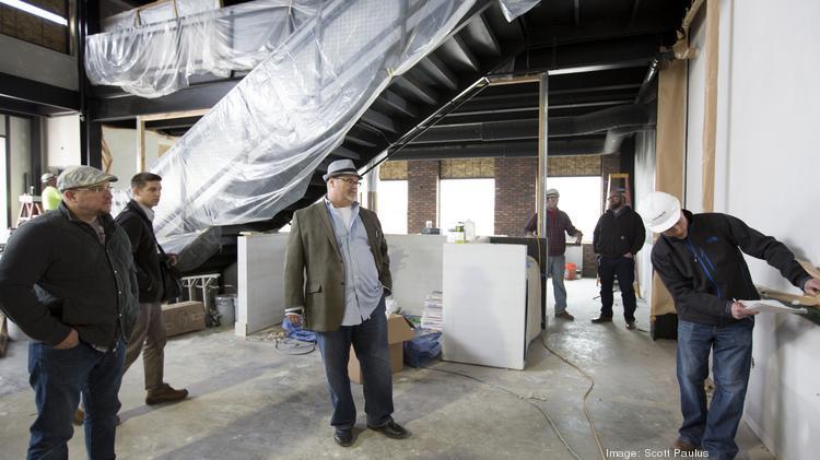 Joe Bartolotta Center President Of The Restaurants Checks Out Progress