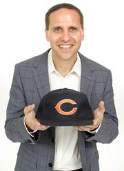 2013 PSBJ 40 under 40 honoree Scott Jacobson, Managing Director, of Madrona Venture Group. Jacobson grew up in Chicago and holds his Chicago Bears hat.  Jacobson says he love the Seahawks but loves the Bear more.