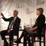 JPMorgan Chase CEO Jamie Dimon visits Atlanta