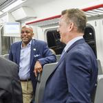 RTD's train to DIA: 1st ride on opening day is like 'floating on air' (Slideshow) (Video)