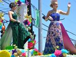 Scenes from the Battle of Flowers Parade
