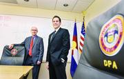 """Judson Byrn, (left) state purchasing director, and David Musgrave, supplier diversity liasion, for the State of Colorado Department of Personnel & Administration. """"We're opening the door to statewide, Colorado-based entrepreneurial businesses,"""" says Byrn."""