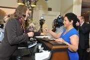 Sheila Johnson, founder and CEO of Salamander Hotels & Resorts, was the first guest to check in.