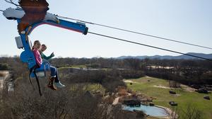 Opened in March 2016, the Soaring Eagle zip line will lift riders 110 feet high and several hundred yards back before releasing them for a ride back to the starting point. The estimated cost for this new attraction was $750,000.