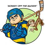 'Monkey off the Backes': Cartoon celebrates Blues' first-round win