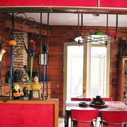 Chris Green's River Road home features a groovy 1970s retro interior design inside.