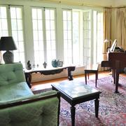 The Reed family's River Road home features French windows that let in the fresh air; the French windows in the living room allow for plenty of natural light.