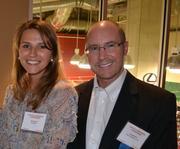 Anna Buglaeva, left, marketing manager at Innotion Enterprises, and Craig Hunter of Cherry Bekaert LLP.